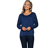 Lisa Rinna Collection Dolman Sleeve Jersey Tee with Back Detail - A294195