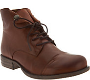 Miz Mooz Leather Lace-up Ankle Boots - Lennox - A300295
