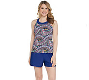 Ocean Dream Signature Tiki Maze Hi-Neck Tankini Swimsuit - A303495