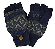 MUK LUKS Sweater Vest Flip Glove for Men - A320495