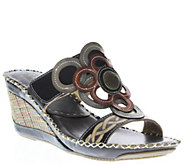Spring Step LArtiste Leather Slide Sandals - Fulvia - A339495