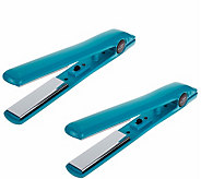 CHI Smart GEMZ Set of 2 Travel Irons w/Plates - A340395