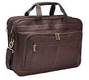 Le Donne Leather Oversized Laptop Briefcase - A363195