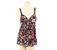 AL Signature Floral Print By-Pass Baby Doll Cami - A202096