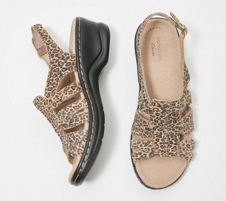 Clarks Leather Lightweight Sandals Lexi Marigold Qvc Com