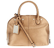 Tignanello Pebble Leather Domed Satchel with Removable Strap - A215696