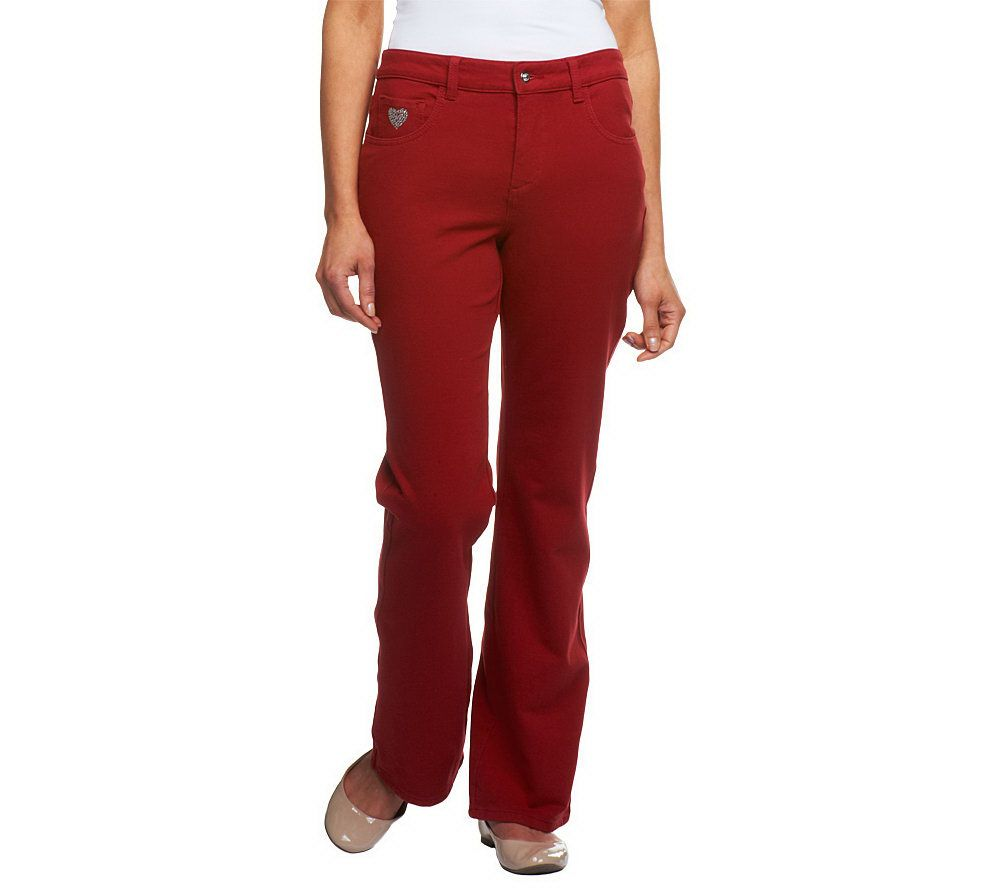 Quacker factory dreamjeannes tall 5 pocket knit denim boot cut quacker factory dreamjeannes tall 5 pocket knit denim boot cut pants page 1 qvc ombrellifo Choice Image