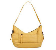 The Sak Leather Kendra Hobo Bag with Side Pocket - A225096