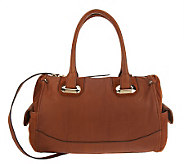 B. Makowsky Glove Leather Zip Top Convertible Satchel - A225996