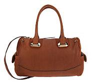 B. Makowsky Glove Leather Zip Top Convertible Satchel - A225996