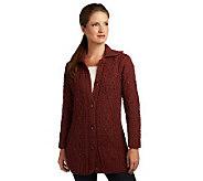 Kilronan Wool Tweed Cable Cardigan - A227796