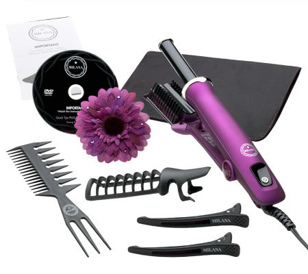 Milana by InStyler Rotating Styling Iron & Accessories