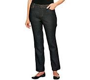 Liz Claiborne New York Petite Hepburn Slim Leg Denim Jeans - A238996