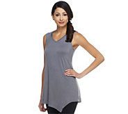 LOGO Layers by Lori Goldstein Petite Tank with Angled Hem - A251896