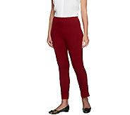 Women with Control Petite Slim Leg Ankle Pants w/ Zipper - A255796