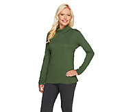 Liz Claiborne New York Essentials Long Sleeve Turtleneck Top - A256396