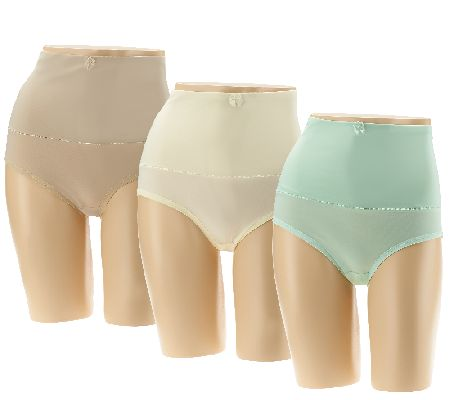 Carol Wior Set of Three Belly Band Panties