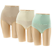 Carol Wior Set of Three Belly Band Panties - A256596