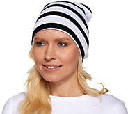 Collection 18 Bold Striped knit Beanie - A257296