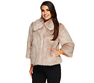 Dennis Basso Platinum Collection Faux Fox Chubby Shrug - A259796