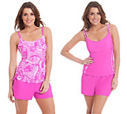Liz Claiborne New York 3-Pc Tankini and Shorts Swimsuit Set - A263696