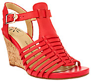 As Is Isaac Mizrahi Live! Fisherman Open Toe Wedge Sandals - A270596