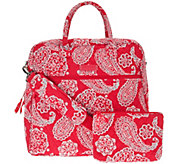 Vera Bradley Signature Print Overnighter Bag & Pouch - A280296