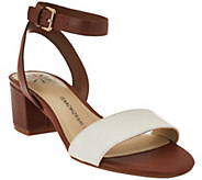 As Is Isaac Mizrahi Live! Ankle Strap Sandals with Heel - A284696