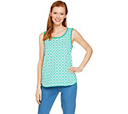 C. Wonder Trellis Print Tank Top with Pom Pom Trim - A289696