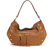 Aimee Kestenberg Pebble Leather Hobo Handbag- Charlie - A292596