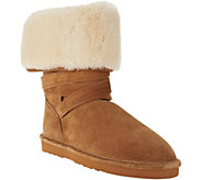 As Is Lamo Water Resistant Suede Faux Fur Tall Boots - Savoy - A293396