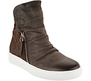Miz Mooz High-Top Leather Zip-up Sneakers - Lavinia - A296796