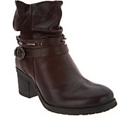 Miz Mooz Leather Block Heel Ankle Boots - Serenity - A300296