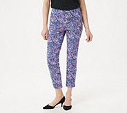 Isaac Mizrahi Live! Regular 24/7 Stretch Print or Solid Ankle Pants - A302696