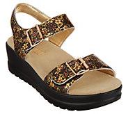 Alegria Leather Multi Strap Wedge Sandals - Morgyn - A303996