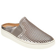 Earth Perforated Leather Slip-on Shoes - Zest - A304196