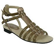 David Tate Jenny Lizard Print Gladiator Sandals - A316396