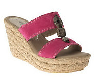 Azura by Spring Step Leather Slide Sandals - Harvard - A323196