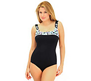 Fit 4 U Cs A Lot 2 Like Square Neck Tank Swimsuit - A332196