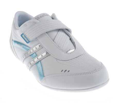 skechers leather v low profile athletic shoes qvc