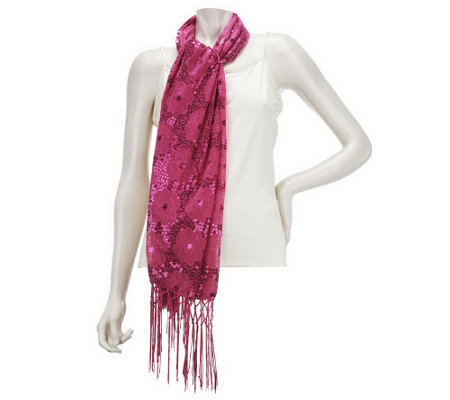Kirks Folly Flower Shower Sequin Scarf