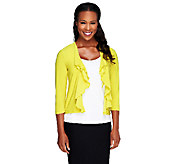Attitudes by Renee 3/4 Sleeve Cascade Front Shrug - A224597