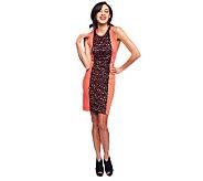 Jennifer Hudson Collection Ponte Knit Dress with Lace Insets - A231697