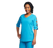 Susan Graver Weekend Cotton Gauze Top with Lattice Detail - A233097