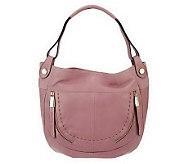As Is B. Makowsky Glove Leather Large Hobo Bag - A238597