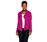 Joan Rivers Sweater Knit Wrap Cardigan w/ Long Sleeves - A256397