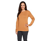 Joan Rivers Wardrobe Builders Round Neck Long Sleeve Sweater - A256797