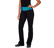 cee bee CHERYL BURKE Petite Bootcut Pants with Ombre Waistband - A264197