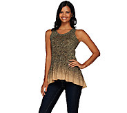 LOGO Lavish by Lori Goldstein Sleeveless Peplum Top with Embellishment - A265597