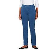 As Is Denim & Co. Regular How Comfy Side Pocket Pants - A266097